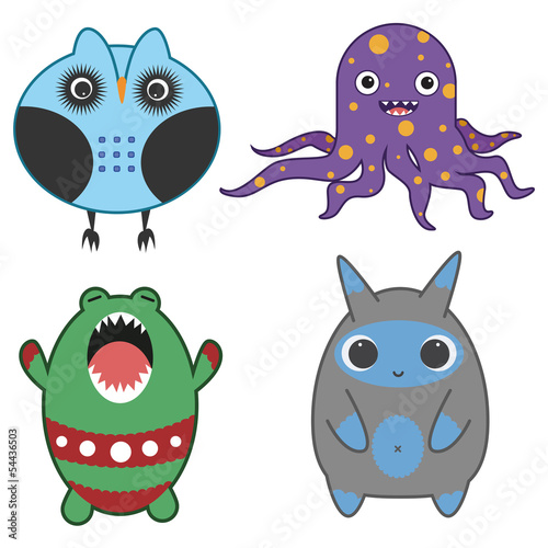 Japanese style monsters