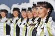 Eine Gruppe Gardetänzerinnen