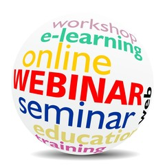 WEBINAR - word cloud as colored word sphere - NEW TOP TREND