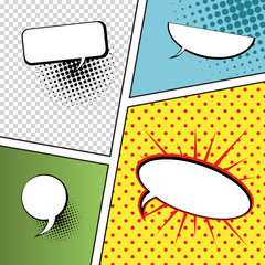 Speech Bubbles in Pop-Art Style