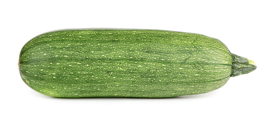 green zucchini on white background