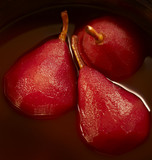 stewed pears in red wine