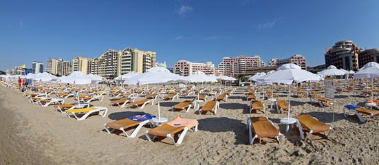 Sandy beach at Sunny beach, Bulgaria