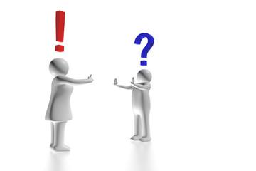 Mann und Frau streiten abstrakt