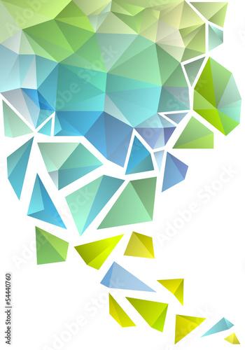 Deurstickers Geometrische dieren abstract polygon background, vector