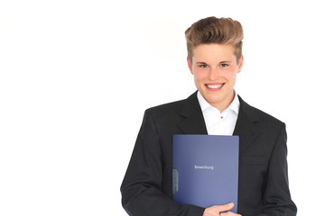 junger Mann auf Jobsuche