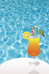 cocktail in pool