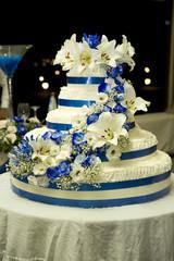 torta grande rose blu