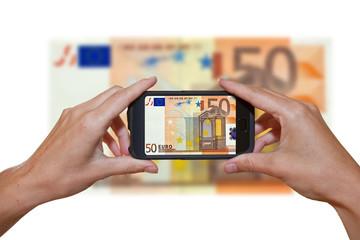 50 Euroschein - e-business