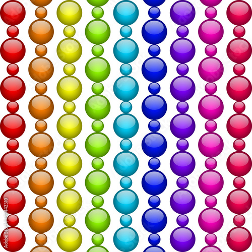 Vector colorful beads