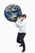 Holding a planet earth