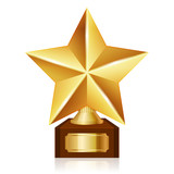 Vector gold star award