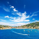 beautiful mediterranean landscape with blue sky