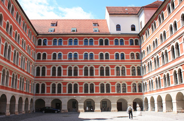 Austria. Religious school Franciscan monks in Graz.