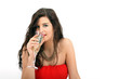 junge Frau trinkt Sekt