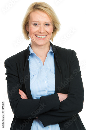 canvas print picture businessfrau mit verschränkten armen