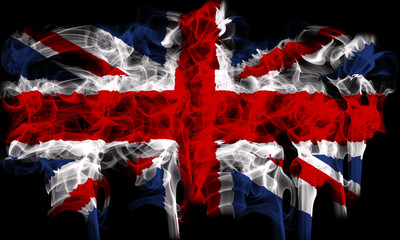 Smoking flag of Great Britain, UK