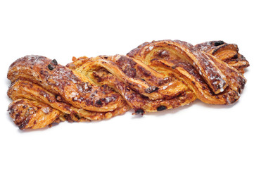 spanish Trenza de Almudevar, a typical braided pastry