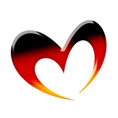 Schwarzrotgoldenes Herz