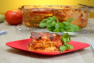 Parmigiana con zucchine e pomodori