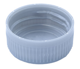 Isolated Silver Plastic Cap