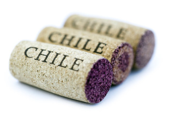 Isolated Chile Corks
