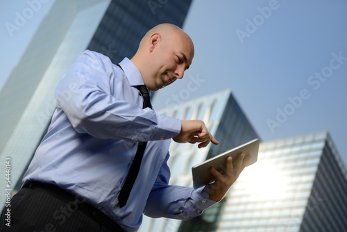 Manager con tablet