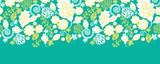 Vector emerald flowerals horizontal seamless pattern background