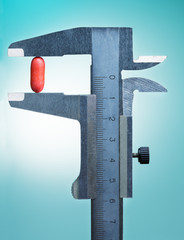 Vernier scale measure one drug