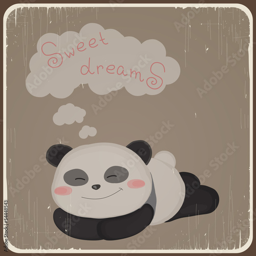 Card with cute panda. Eps 10