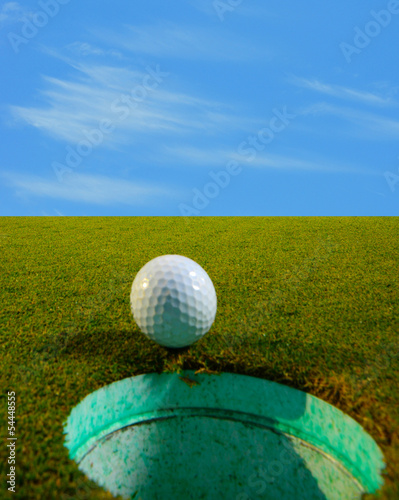 golf ball on golf course