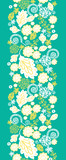 Vector emerald flowerals vertical seamless pattern background