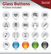 Glass Buttons - Social Media