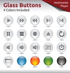 Glass Buttons - Multimedia Player