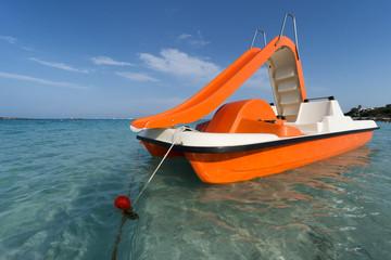 sea empty pedalo