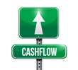 cashflow road sign illustration design