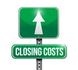 closing costs road sign illustration design
