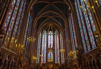 Interior of Sainte-Chapelle, Paris, france
