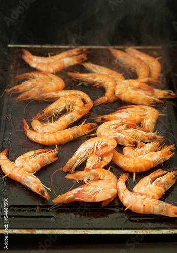 Grilled shrimps Poster