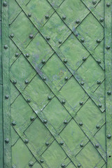 background of decorated door with wrought iron