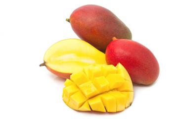 Fresh Mango fruit with slices