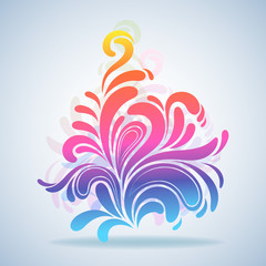 Abstract colorful splash design element