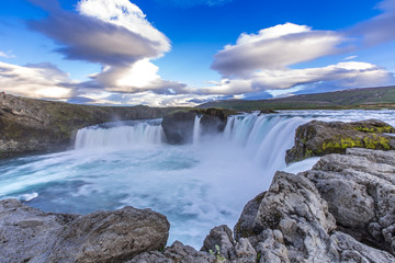 Godafoss waterfall near Laugar, Iceland