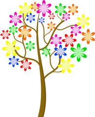 Colorful blossom tree