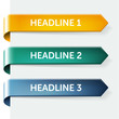 Set of glossy paper tags - headlines, new, sales item