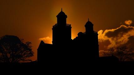 Alabama Brown Chapel sunset
