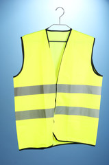 Yellow vest, on color background