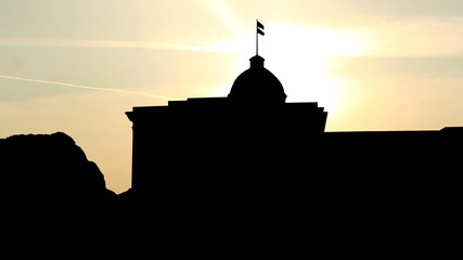 Alabama First Confederate Capitol sunrise