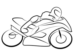 Motorrad Rennen Tribal