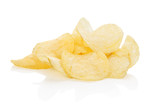 Potato chips isolated.